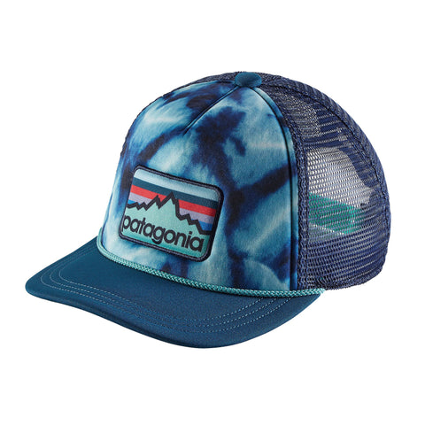 Patagonia Kid's Interstate Hat - Line Logo Badge: Big Sur Blue