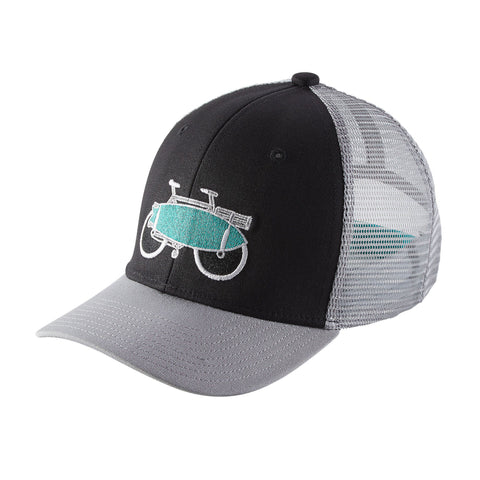 Patagonia Kid's Trucker Hat - Amphibious Bike: Black
