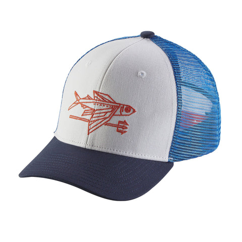 Patagonia Kid's Trucker Hat - Geodesic  Flying Fish: White