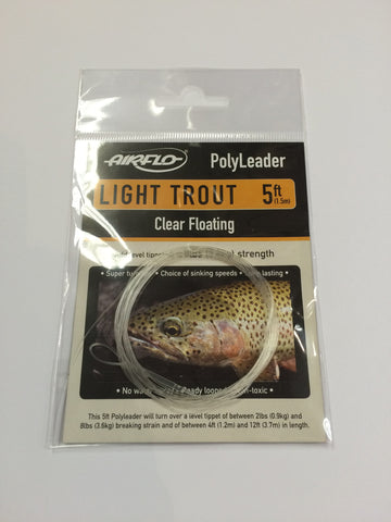 Airflo Light Trout Polyleader Clear Floating 5'