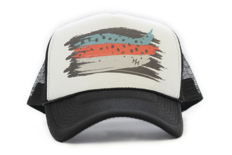 Blue Back Old School Trucker Hat Front - H&H Outfitters