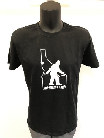 Men's Sasquatch Land Idaho T-Shirt - Black