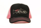 "STLHD ""Team STLHD"" Pink Old School Trucker Hat - H&H Outfitters"