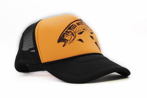Classic Trout Old School Trucker Hat - H&H Outfitters Side