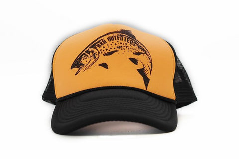 Classic Trout Old School Trucker Hat - H&H Outfitters Front