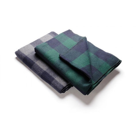 Hugger Mugger Plaid Wool Blanket