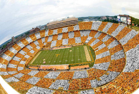 Checkerboard Neyland Stadium- Photo by Chattanooga Times Free Press