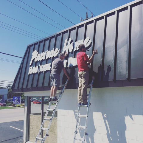 Outdoor signage installation
