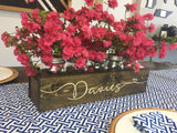 Mason jar holder personalized with family name