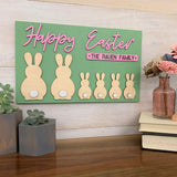 Personalized Easter Family Sign