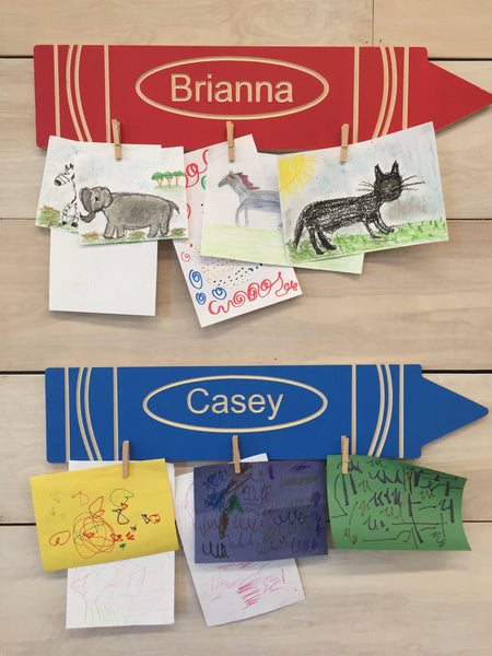 Personalized Crayon Art Display
