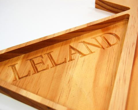 Sailboat Tray- Personalized Solid Wood Organizer