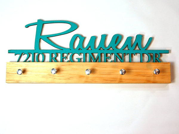 Housewarming key holder Family Name and Address