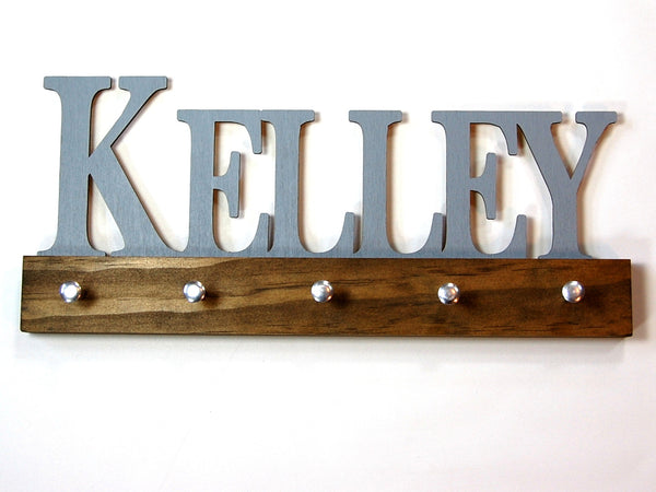 Personalized Name Key Holder Traditional Block Small Caps