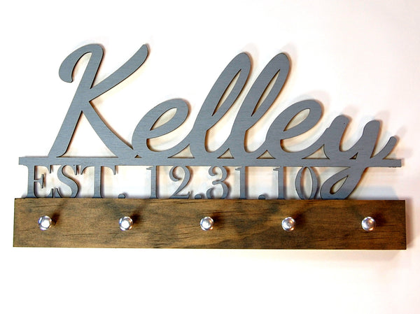 Wedding key holder Family Name and Established Date