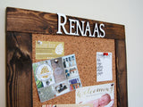 Personalized Cork Bulletin Board