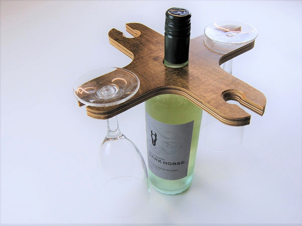 Wine Glass Carrier - 2 or 4 Glasses