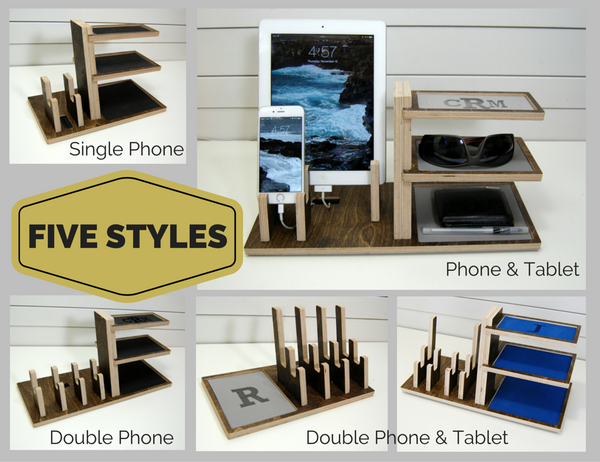 Double Phone & Tablet Cantilevered Docking Station