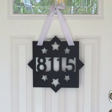 Street Number Personalized Door Sign Client Gift