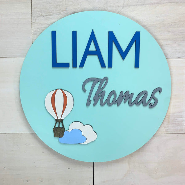 Balloon Personalized Name Sign
