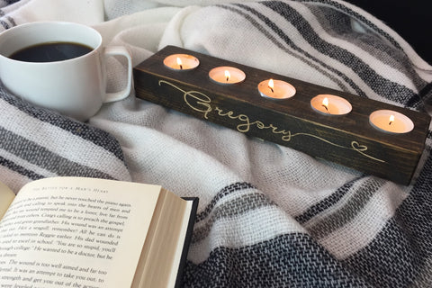 Personalized Engraved Candle Holder