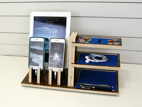 products/Pinecone_Home_Charging_Station_Double_Phone_Tablet_Shelves_angled_vignette_blue_foam.JPG