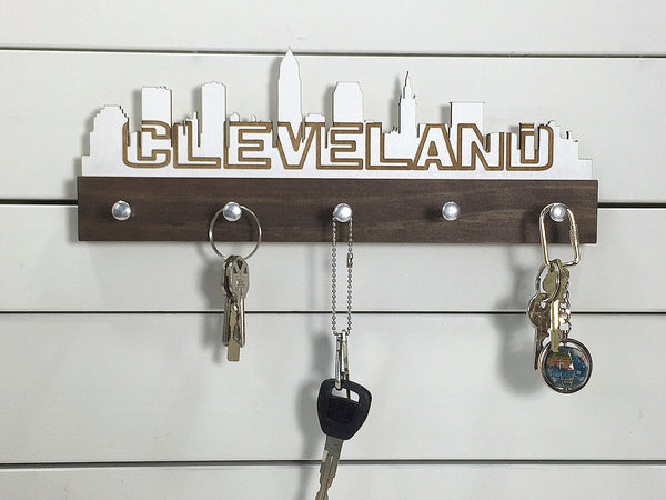 Cleveland Skyline Key Holder