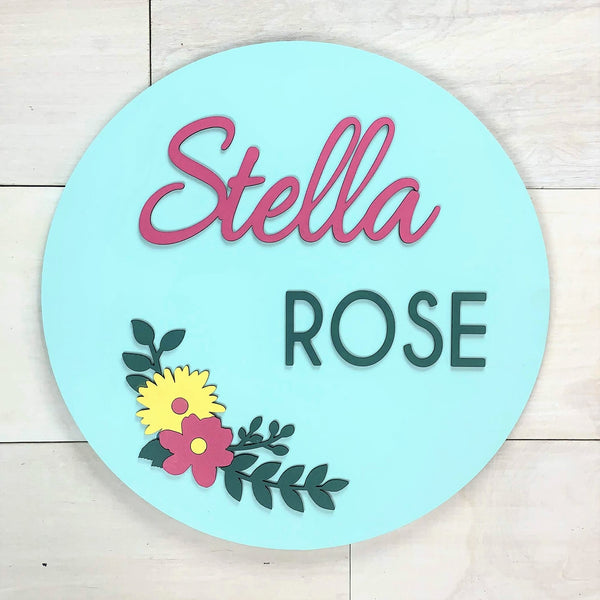 Flower Personalized Name Sign