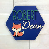 Fox Personalized Nursery Sign