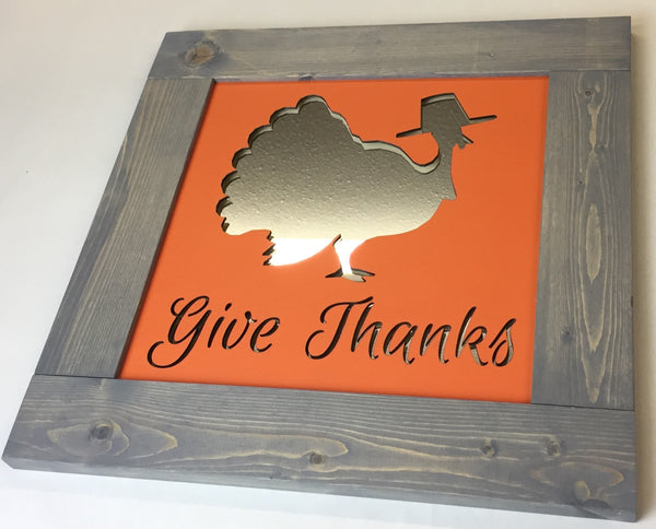 Mirror Wall Art - Give Thanks
