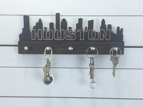 Houston Skyline Key Holder