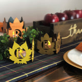 Personalized Fall Leaves Candle Set