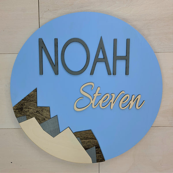 Mountains Personalized Name Sign