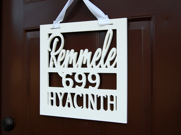 Personalized Name and Address Door Sign - Client Gift