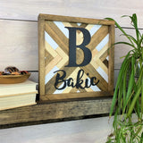 Personalized Geometric Tribal Wood Wall Art