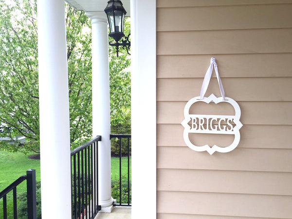 Personalized Quatrefoil Front Door Sign - Client Gift