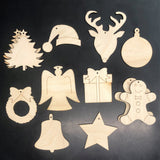 Ready to Paint Christmas Ornament Set