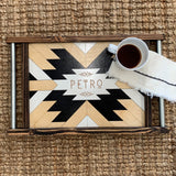 Personalized Tribal Wood Art Serving Tray