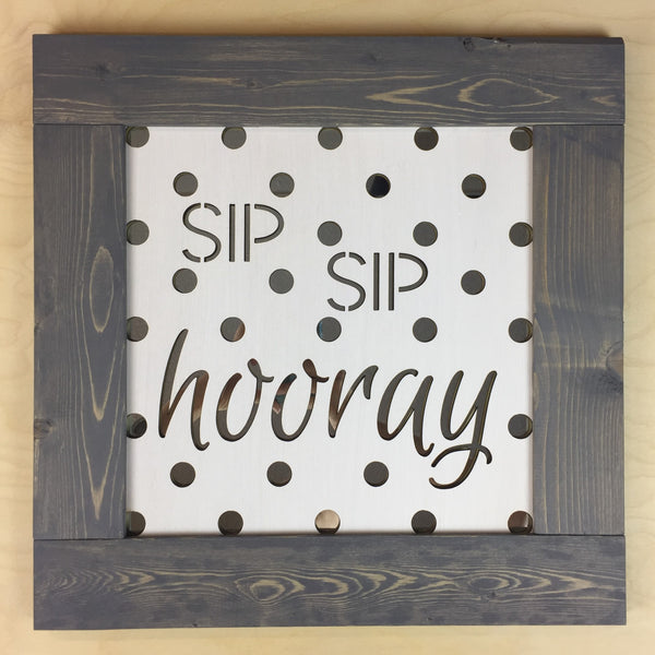 Mirror Wall Art - Sip Sip Hooray