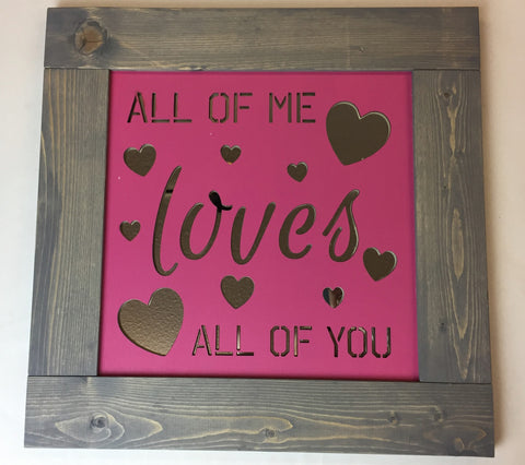 Mirror Wall Art - All of me Loves all of You