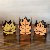 Fall Leaves Candle Set
