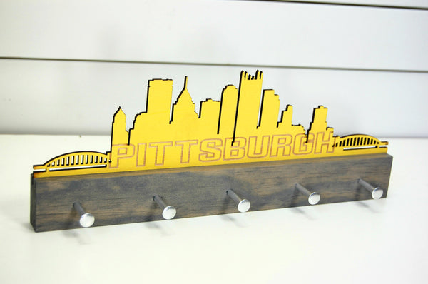 Pittsburgh Skyline Key Holder