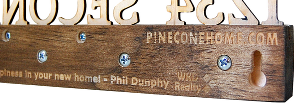 Client gift key holder with personalized inscription