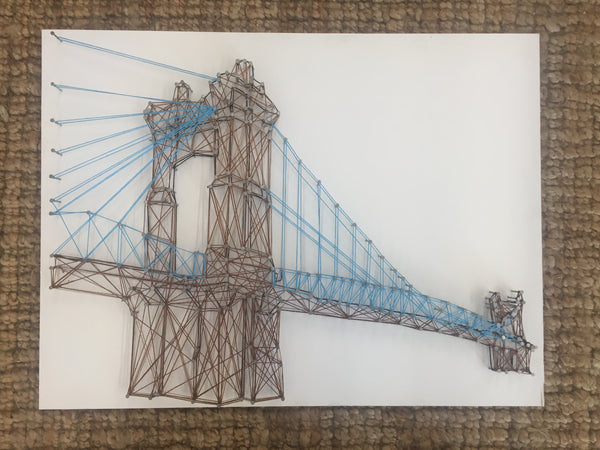 Roebling Suspension Bridge String Art Kit