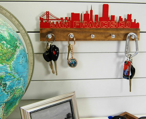 San Francisco Skyline Key Holder