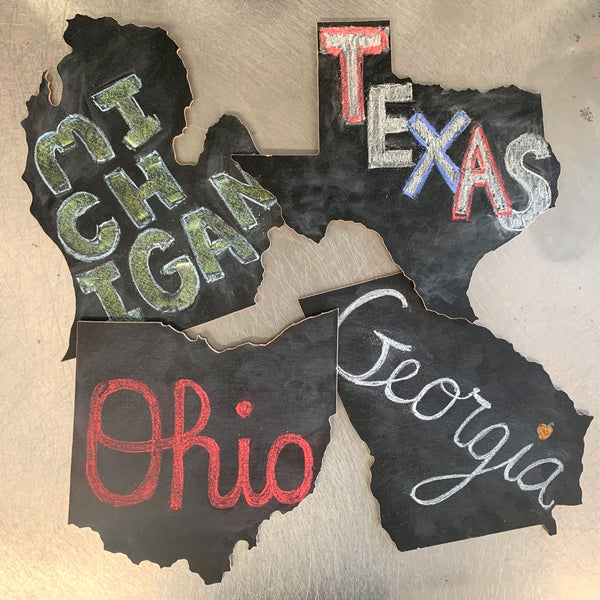 State Shaped Chalkboards