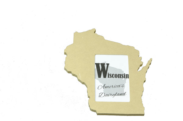 Wisconsin picture frame 4x6