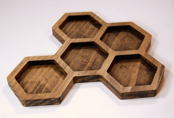 GeoTray - Geometric Desk and Jewelry Tray Organizer