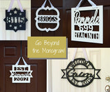 Wedding Door Sign - Name and Established Date
