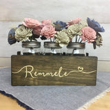 Engraved Mason Jar Holder Planter Box - Mini